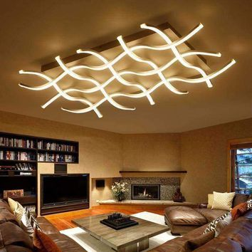 Rectangle acrylic modern led ceiling lights for living room bedroom lamparas de techo colgante square led ceiling lamp fixture
