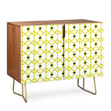 Heather Dutton Annika Diamond Citron Credenza