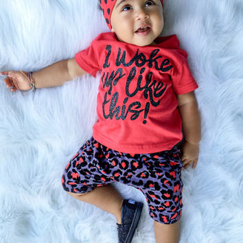 Leopard Print Harem Baby Shorts, Comfy Baby Clothes, Comfy Clothing, Black Baby Clothes, Awesome Baby Clothes