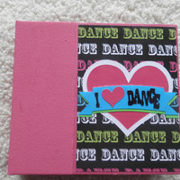 6x6 Chipboard PreMade Dance Scrapbook