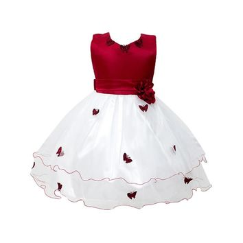 Fashion Baby Girls Flower Princess Tutu Dress Toddler Wedding Party Pageant Butterfly Dresses