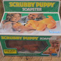 Scrubby Puppy, Vintage Bath Toy, Vintage Toy, Soapster, Kenner, Dog Toy, Puppy Toy, Vintage Toy in Box, Collectable