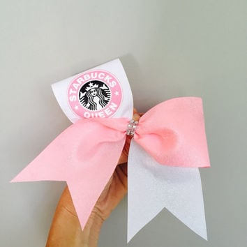 Starbucks Queen Pink and White Cheer Bow