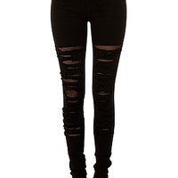 The Tripp NYC Jeans Fishnet Underlay in Black