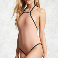 High Neck Halter One-Piece