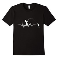 Fishing Heartbeat Cool Beat T-Shirt Great Gift For Fisherman