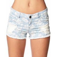 Floral Denim Cut Offs