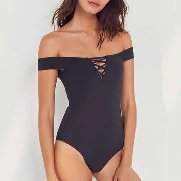 Billabong Sol Searcher Off-The-Shoulder One-Piece Swimsuit | Urban Outfitters