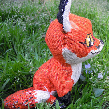 Red Fox 3D Cross Stitch Animal Doll and Sewing Pattern PDF