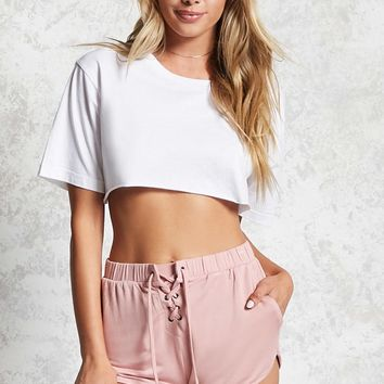 Lace-Up PJ Shorts