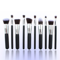 Classics 10-pcs Makeup Brush Sets Professional Brush [6532420295]