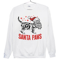 Santa Paws Ugly Christmas Sweatshirt (ATTN: notate SIZE during checkout)