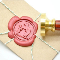 Circus Bear Little Girl Storybook Gold Plated Wax Seal Stamp x 1