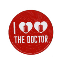 Doctor Who I (Heart Heart) The Doctor Car Magnet
