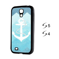Sky Blue Anchor Samsung Galaxy S5 and Galaxy S4 Case