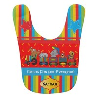 Circus Fun for Everyone! Personalize Baby Bib