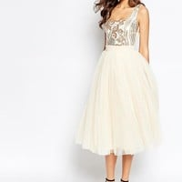 Little Mistress Tall | Little Mistress Tall Sequin Bodice Tulle Prom Dress at ASOS