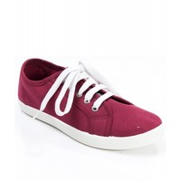 Breckelle Cooper-01W Low Top Lace Up Canvas Sneaker BERRY CANVAS (Shoes)