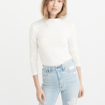Womens Long-Sleeve Slim Turtleneck | Womens New Arrivals | Abercrombie.com