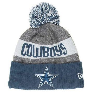 26c76e7ad6b New Men s Dallas Cowboys NFL 2016   2017 Sideline Official Sport Knit  Beanie hat