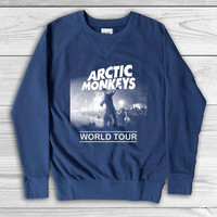 JumeatSebtu Printed Arctic Monkeys world tour Sweatshirt