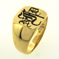 Monogram Signet  Ring Sterling Silver  Personalized