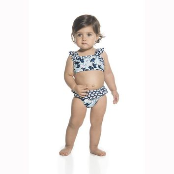 ONDADEMAR BABY GIRLS LOTTO STRUCTURED BIKINI SWIMWEAR