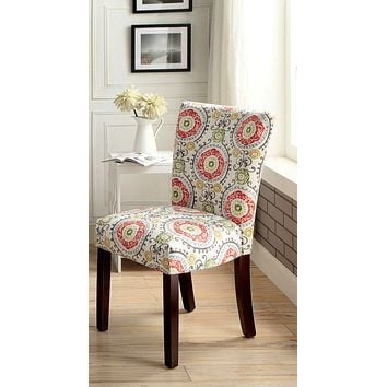 Deirdre Contemporary Accent Chair, Red
