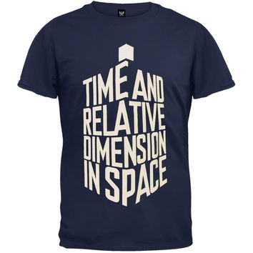 Doctor Who - Time And Relative Dimension T-Shirt