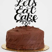 Alexis Mattox Design Let's Eat Cake Cake Topper- Black One