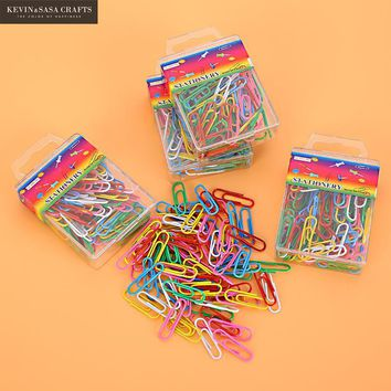 100Pcs/lot Paper Clips Binder Clips Office Accessories Wonder Clips Cute Gift Office Supplies Desk Accessories Stationery Colors