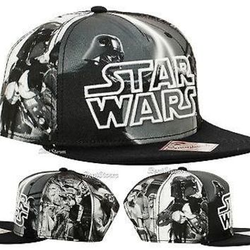 Licensed cool NEW Star Wars Movie Embroidered LOGO Sublimation Original Snapback Hat Ball Cap