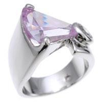 Lavender Cubic Zirconia Fashion Ring, size : 07