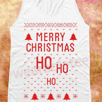 Merry Christmas Shirts Ho Ho Ho Xmas Shirts Merry Christmas TShirts Women Shirts Women Tank Tops Tunic Unisex Shirts Women Sleeveless Shirts