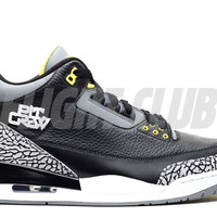 "air jordan 3 retro ""oregon pit crew"" - black/yellow-wht - Air Jordan 3 - Air Jordans 