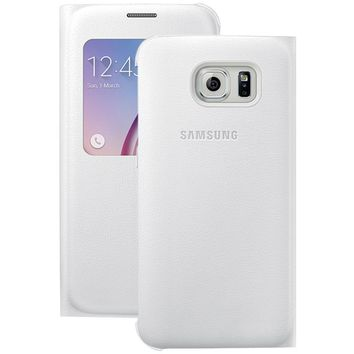 Samsung Samsung Galaxy S 6 S-view Flip Cover (white Pearl)
