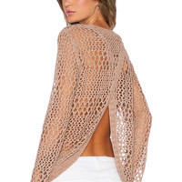 LA Made Jackie Sweater in Nude