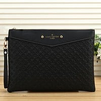 Louis Vuitton LV Women Fashion Leather Envelope Clutch Bag Tote Handbag
