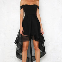 Pout It Out Midi Dress Black