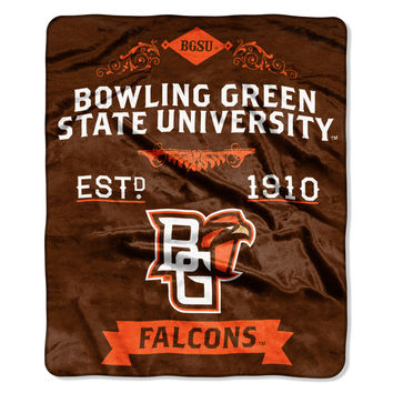 "Bowling Green State College Label 50""""x 60"""" Raschel Throw"