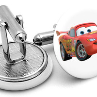 Cars Lightning McQueen Cufflinks