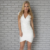 Iconic Brilliance Party Dress In White
