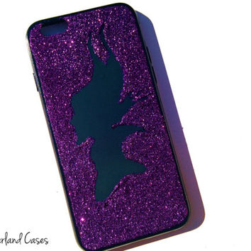 Maleficent iPhone 6 Case Glitter Disney Villains Silhouette iPhone 6 Glitter Cover