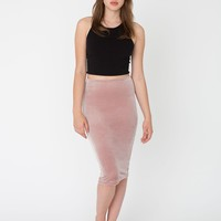 rsa0387v - Velvet Mid-Length Pencil Skirt