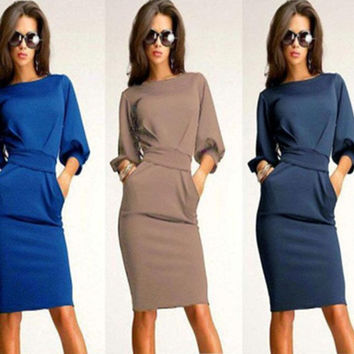 Womens Trendy Club Party Office Mini Dress