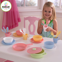 KidKraft 27 Piece Cookware Play set - Pastel - 63027