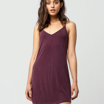 FULL TILT Cross Back Slip Dress
