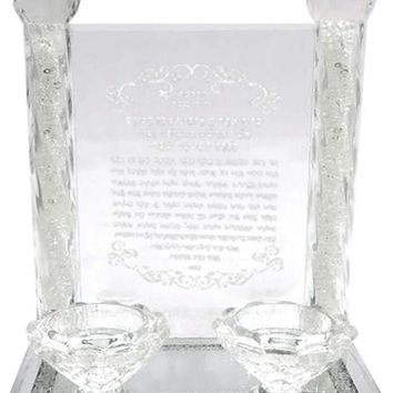 Crystal Judaica Candle Holder Collection