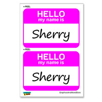 Sherry Hello My Name Is - Sheet of 2 Stickers