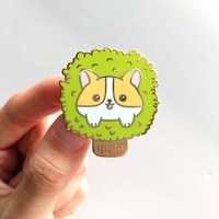 Corgi Tree Pin